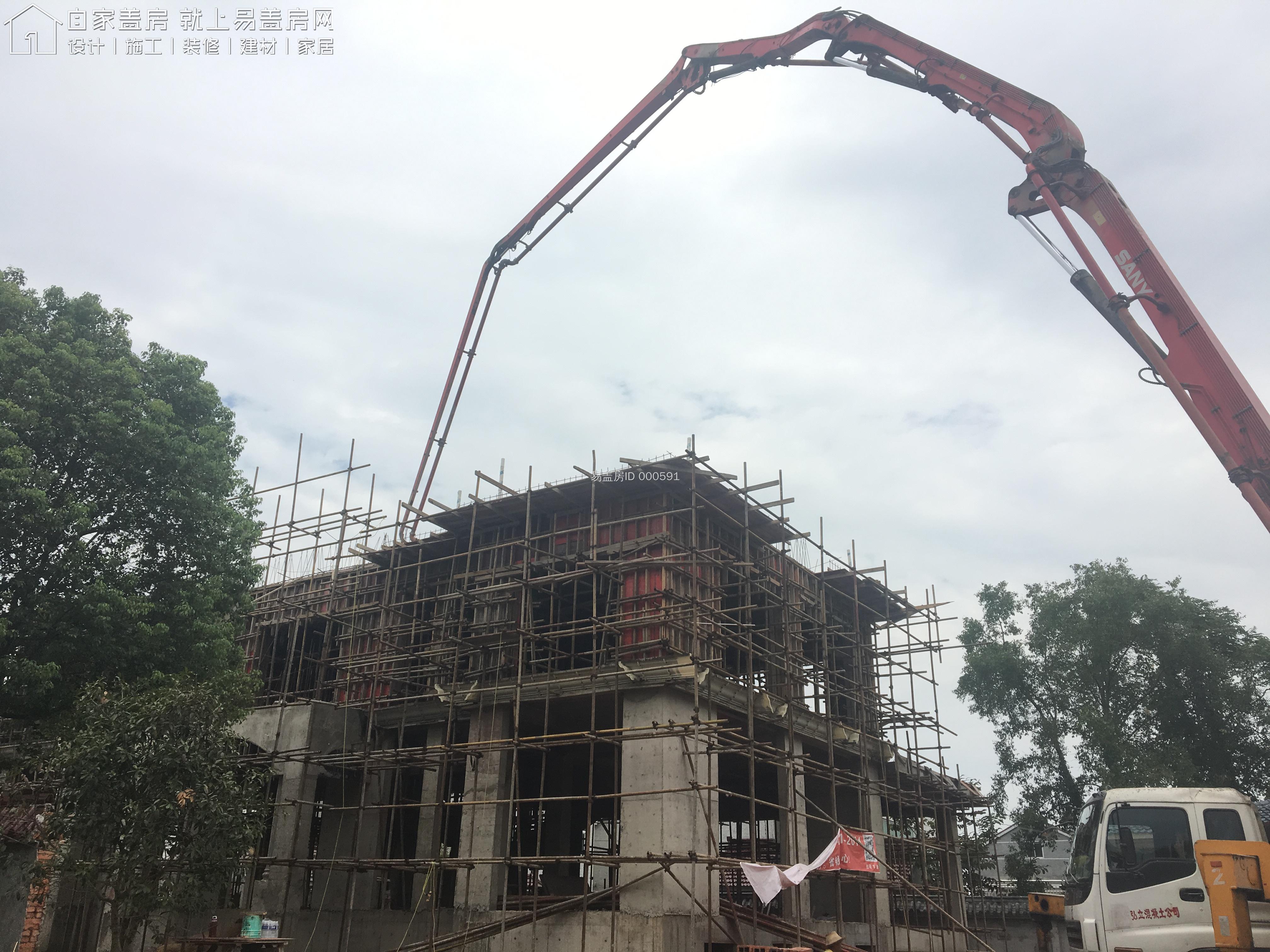 安徽安庆卢文庆别墅工地直播