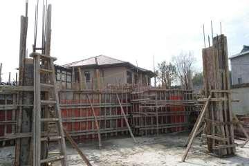 浙江杭州富阳区张松华现代别墅 工地直播