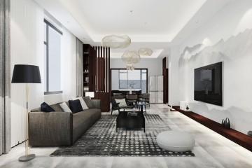 北京顺义现代民宅室内装修