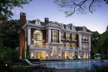 紅磚高客廳別墅