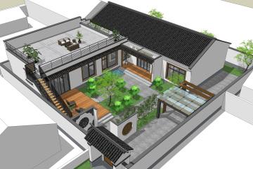 北京順義劉家新中式別墅