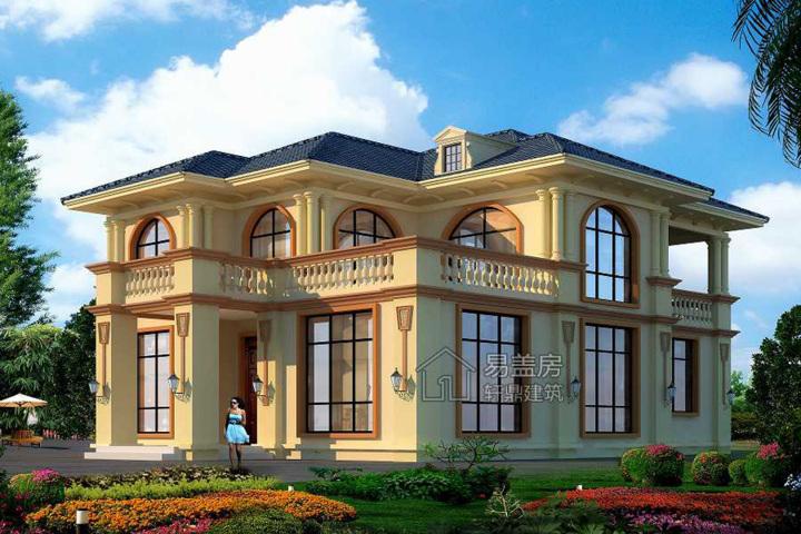 海南二层欧式别墅_别墅图纸设计 - 图纸中心 - 易盖房