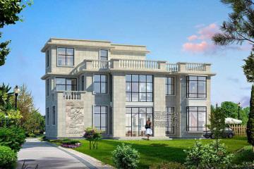 廣西三層新中式別墅