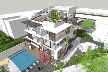 海南海口現代别墅改造