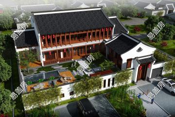 福建漳州楊家中式別墅設計圖紙