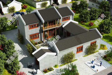 湖北天门施家中式别墅设计图纸