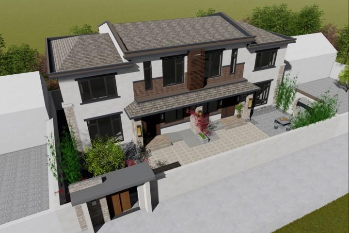北京順義尚家新中式雙拼別墅