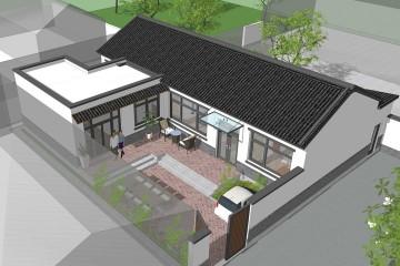北京顺义张家一层新中式住宅