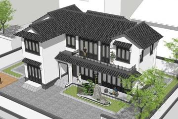湖北仙桃李家新中式宅院