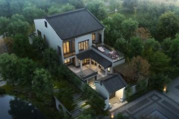 江蘇泰州程家新中式宅院