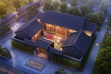 湖南岳陽周家中式三合院
