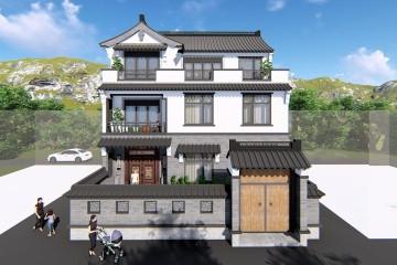 福建龙岩蒋家中式别墅