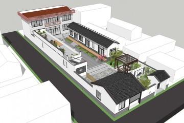 河北廊坊张家新中式三合院