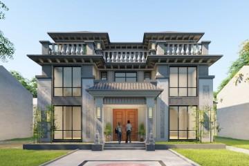 四川內江周家新中式別墅