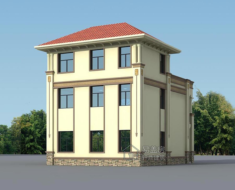 建房图库 浙江台州三层欧式别墅  该建筑共有两层,整个基地较为方正