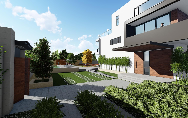 △阳光房效果图 三层阳光房的框架设计带来工艺感,与简约大方的主体