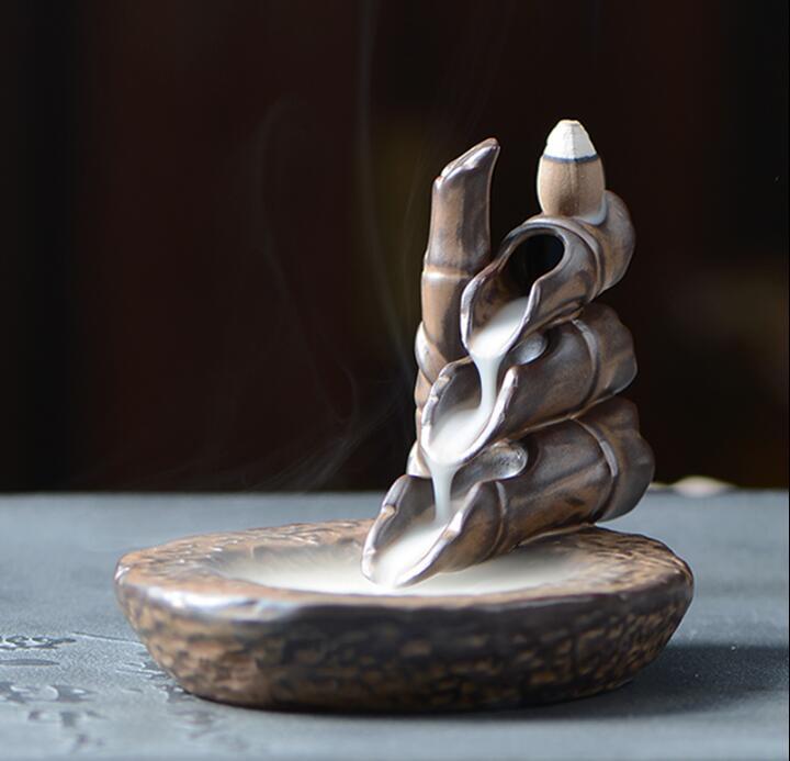 倒流香爐創意陶瓷香薰爐