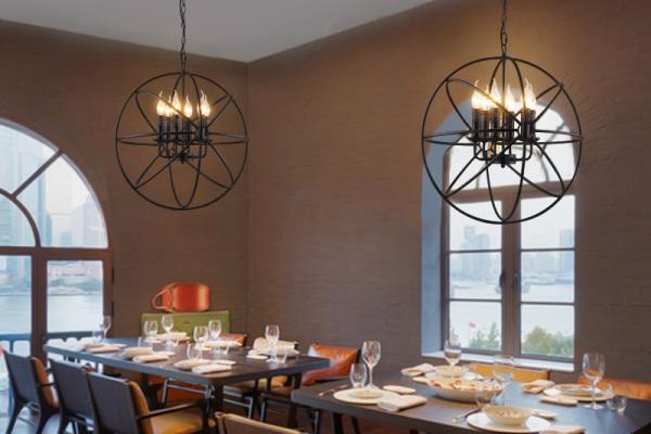 餐厅工业复古吊灯