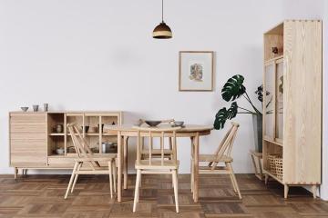 实木简约餐椅