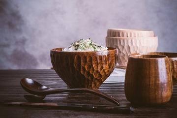 日式手工家用木碗