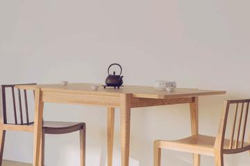 橡木折疊餐桌