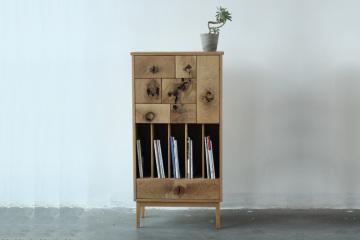實木小書柜