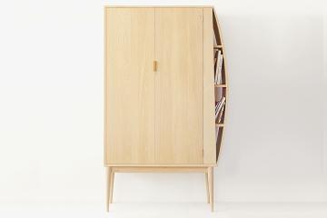 橡木置物书架