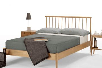 日式實木雙人床