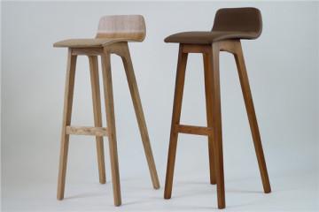 北欧简约现代实木吧椅