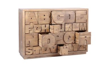 实木收纳字母柜子
