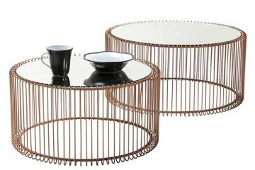 簡約鋼化玻璃茶桌