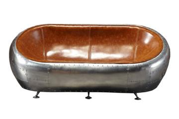 工業風鋁皮鉚釘個性沙發