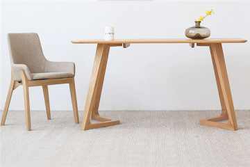 簡約設計原木餐桌組合