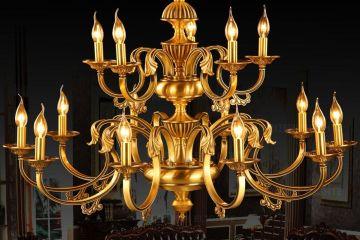 蜡烛全铜吊灯