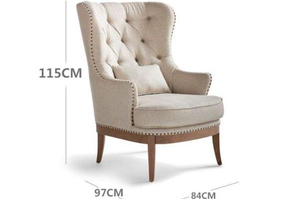 米白色亚麻布艺沙发