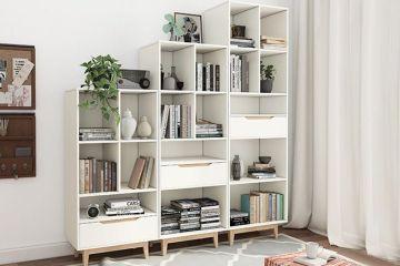 現代簡約北歐書柜書架
