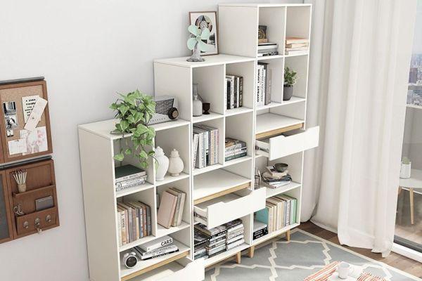 现代简约北欧书柜书架