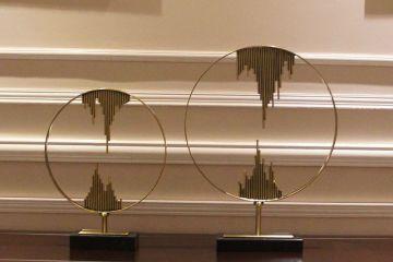 新中式創意家居圓形工藝品