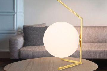 后现代圆球玻璃台灯