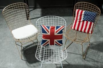 美式镂空铁丝网椅