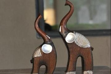 树脂木纹情侣对象母子象