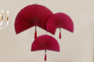 植物藤编藤装饰扇
