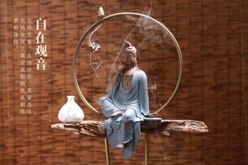 陶瓷工藝品家居擺件禪意