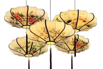 中国风格手绘灯笼吊灯