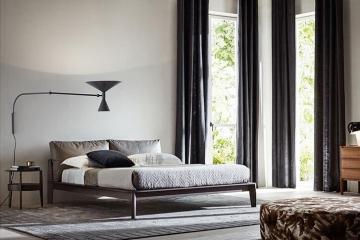 现代时尚简约卧室家具实木床
