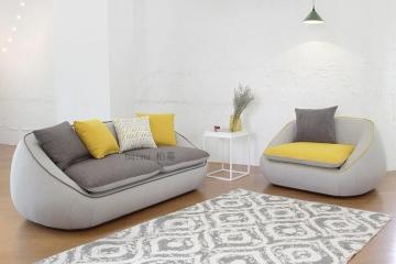 簡約現代時尚羽絨布藝沙發