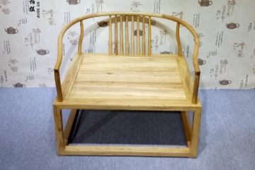 中式老榆木免漆实木椅