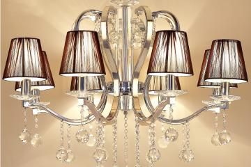 后现代风格简约客厅水晶灯