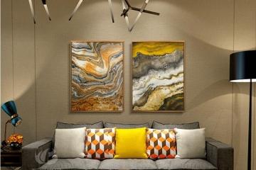 现代抽象玄关装饰画