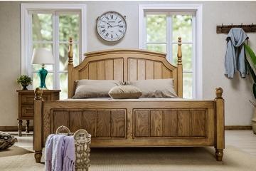 美式乡村风格实木床